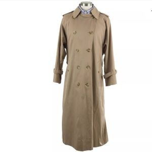 Burberry Wool Trench Coat Removable Liner Sz 42 S